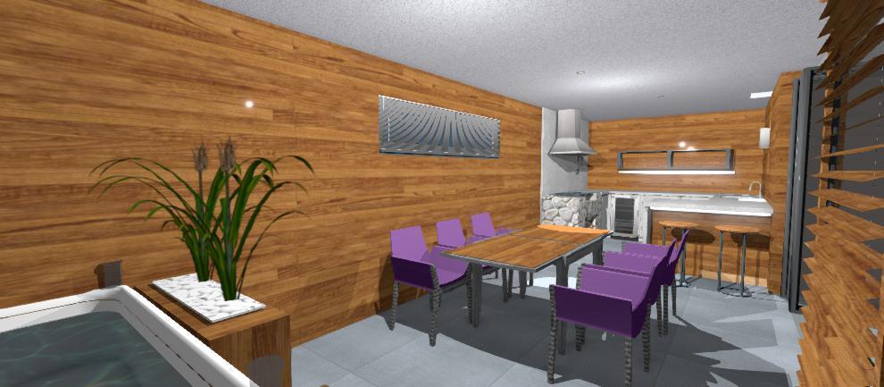 dreveny interier altanku
