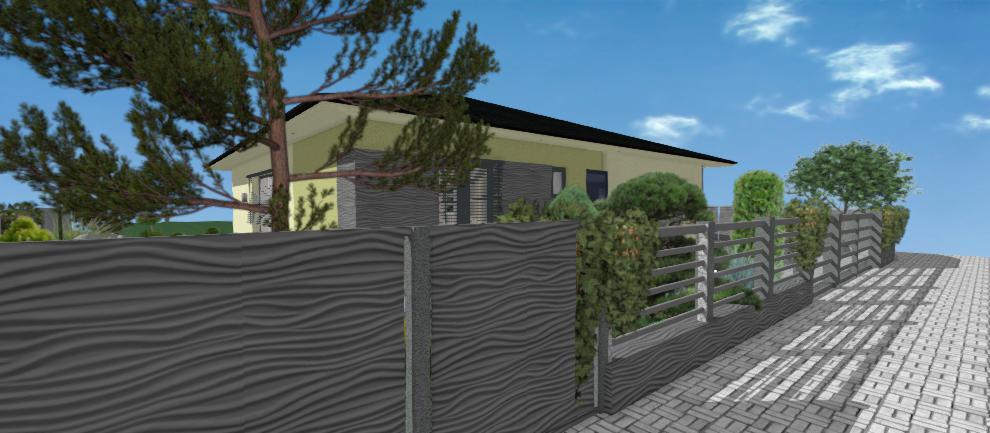 vizualizacia plotu okolo domu