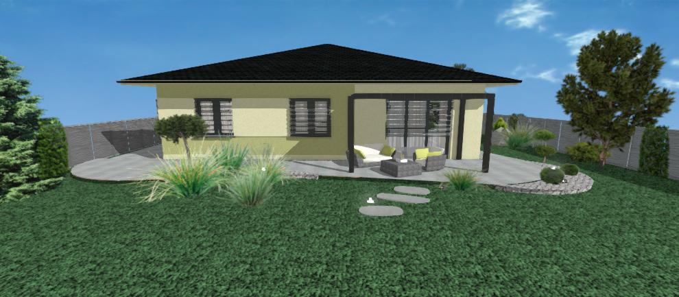 zelena fasada bungalovu