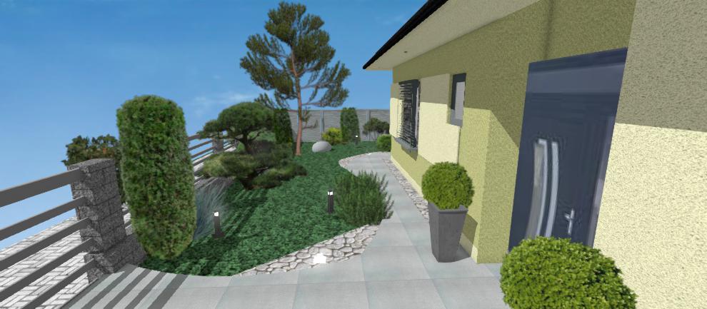 navrh predzahradky domu
