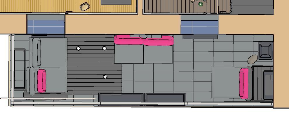 rozvrhnutie nabytku na terase