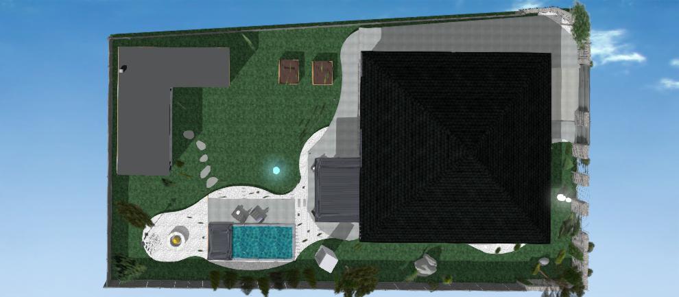 areal rodinneho domu