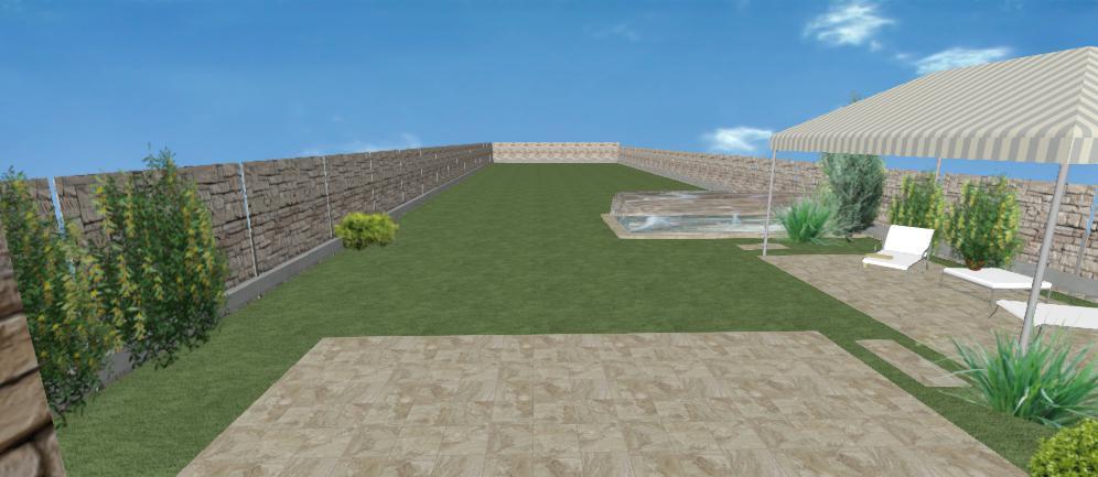 pozdlzna zahrada s altankom
