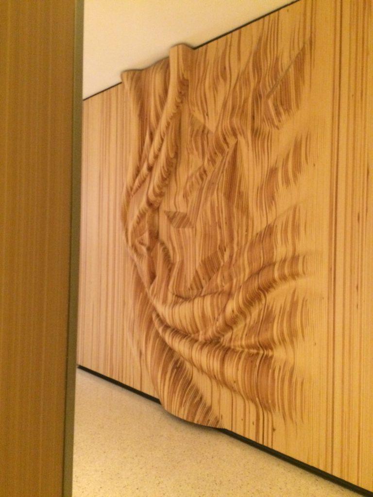 Zaha Hadid stena ako umelecke dielo