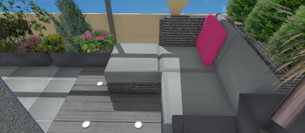 vizualizacia sedenia na terase bytu
