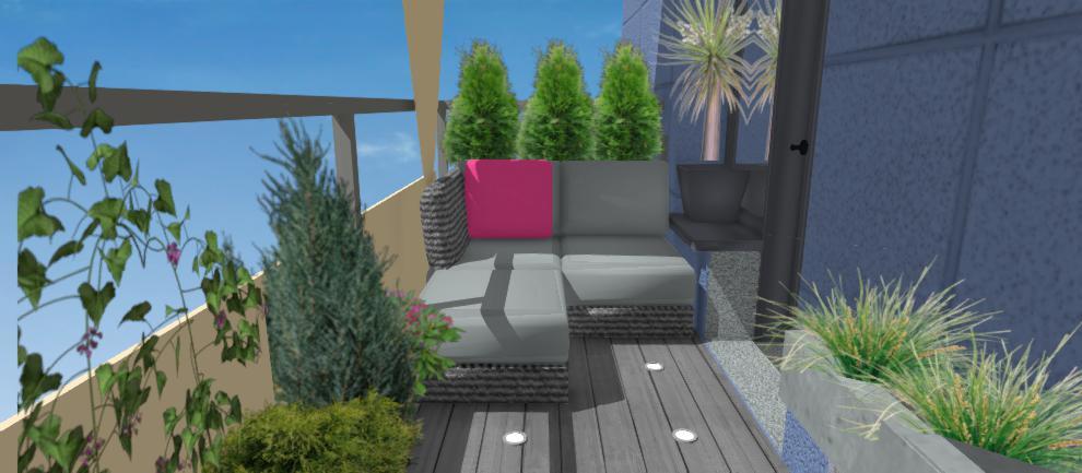 vizualizacia ratanoveho sedenia na terase