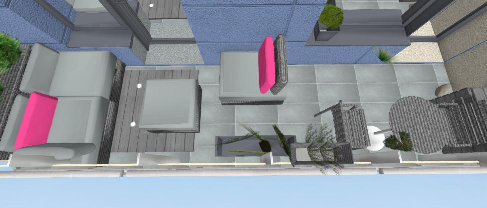 dispozicia nabytku na terase