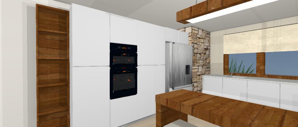 pohlad na bielo hnedu kuchynu