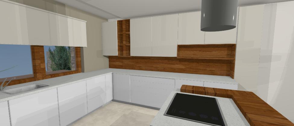 kuchyna s ceresnovym drevom a varnym ostrovom