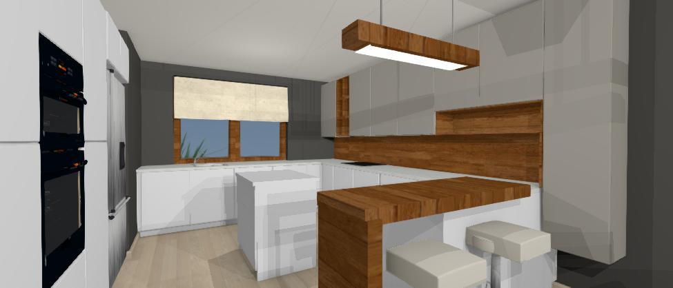 navrh modernej sivej kuchyne, jk deco