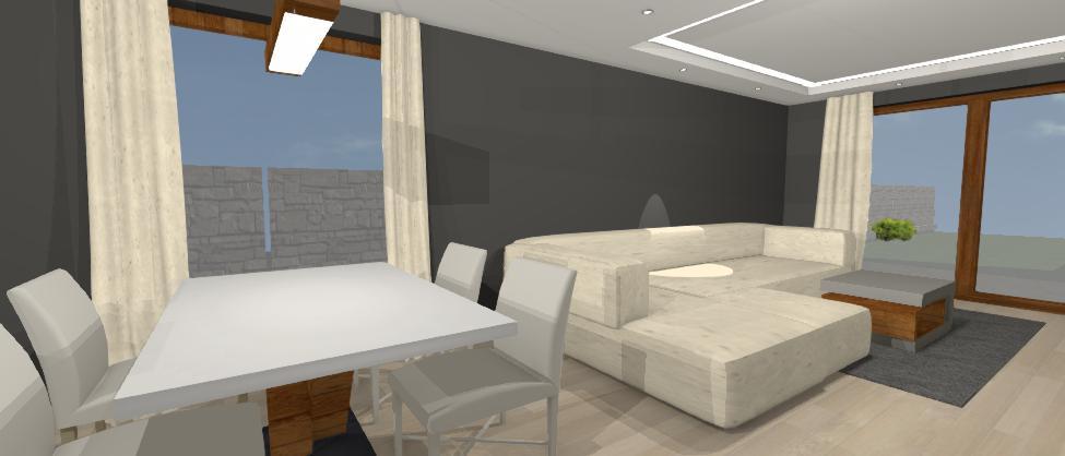 navrh sivo vanilkovej obyvacky rodinneho domu