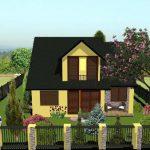 navrh fasady rodinneho domu so zahradou