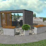 spodny altanok betonoveho vzhladu