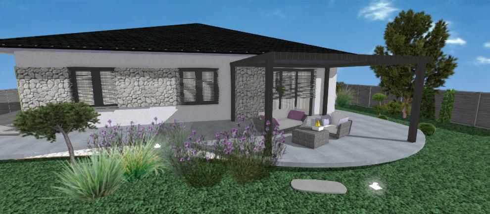fialova fasada rodinneho domu