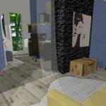 navrh interieru podkrovnej izby