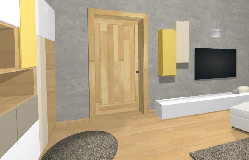 vizualizacia moderneho bytu